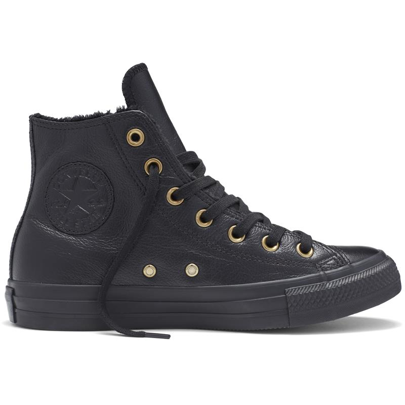 women 39 s converse chuck taylor all star leather and fur hi. Black Bedroom Furniture Sets. Home Design Ideas